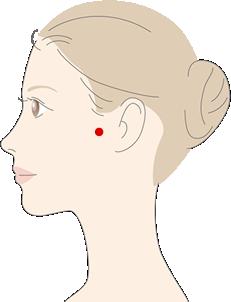下関(げかん)のツボの位置を説明する図